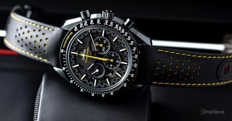 On Hands of Omega Speedmaster Moonwatch Apollo 8 Dark Side of the Moon Luxury Replica Watches